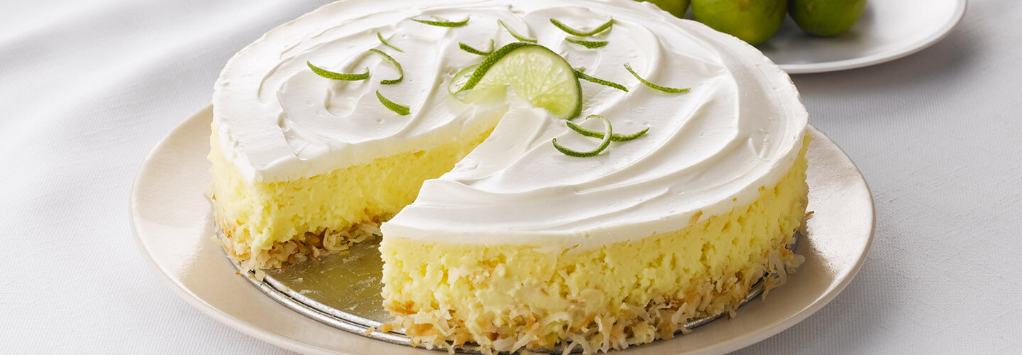 Coconut Crusted Key Lime Cheesecake Recipe By Crystal Farms