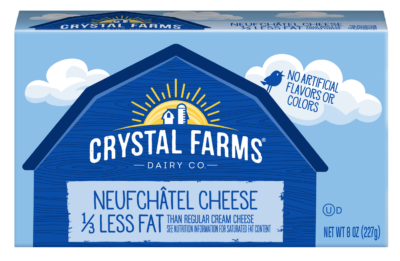 neufchatel cheese less fat