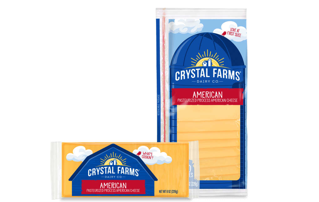 American Cheese From Crystal Farms