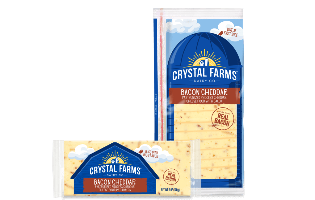 Cheddar_Crystal Farms Bacon Cheddar Cheese