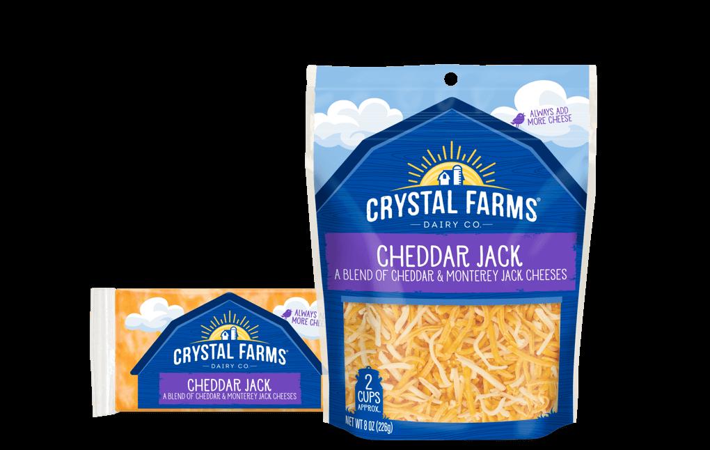 Cheddar_Crystal Farms Cheddar Jack Cheese