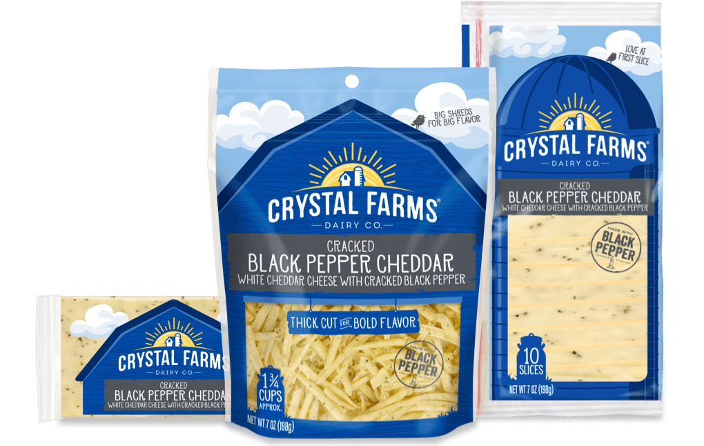 Cheddar_Crystal Farms Cracked Black Pepper Cheddar Cheese