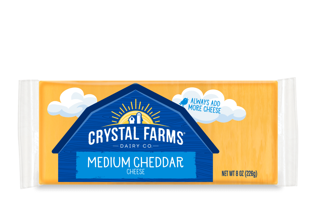 Cheddar_Crystal Farms Medium Cheddar Cheese