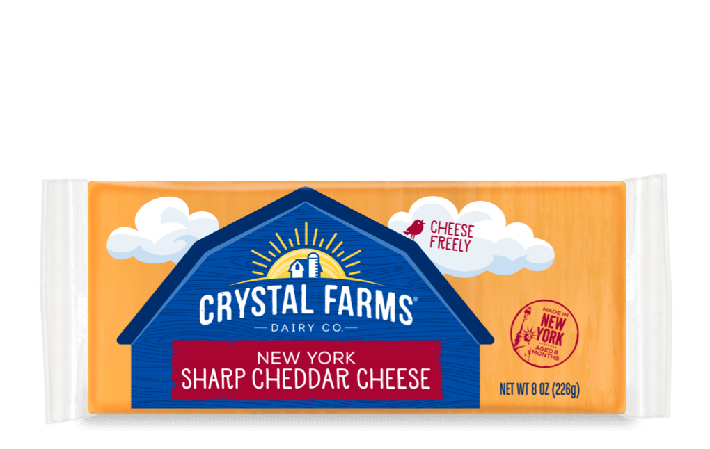 Cheddar_Crystal Farms New York Sharp Cheddar Cheese