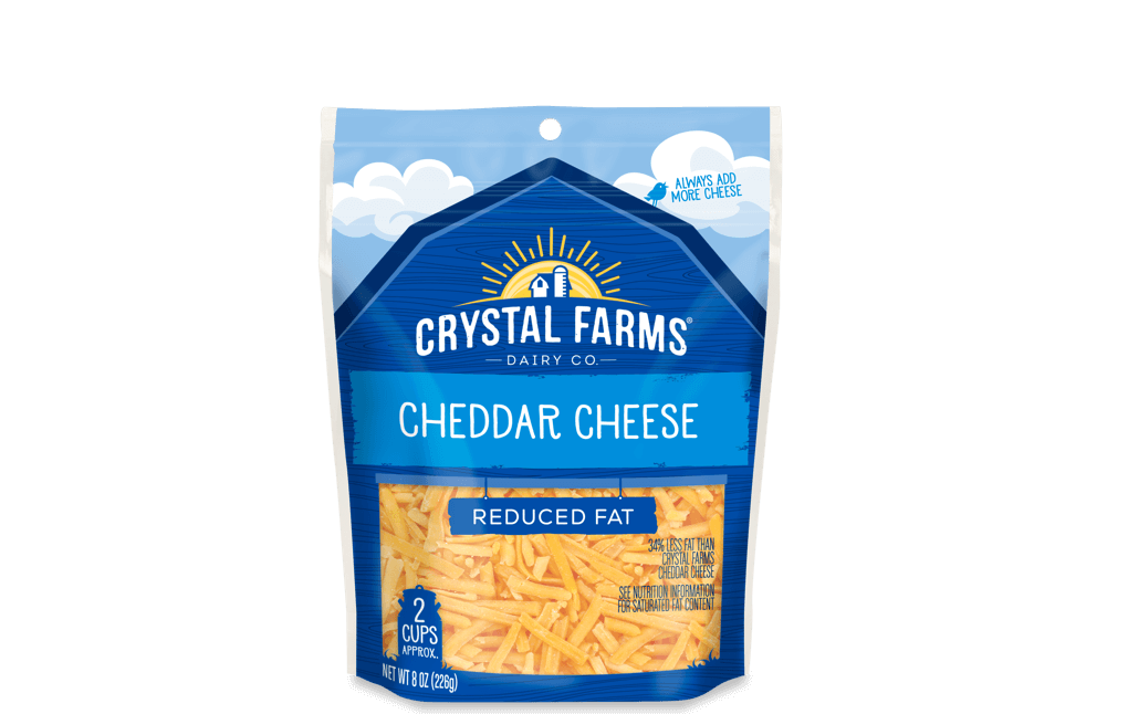 Cheddar_Crystal Farms Reduced Fat Cheddar Cheese