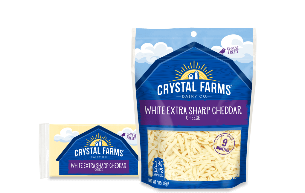 Cheddar_Crystal Farms Wisconsin Extra Sharp White Cheddar Cheese