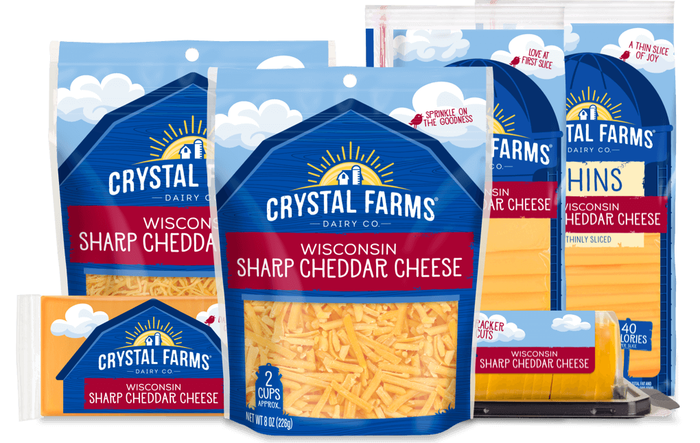 Cheddar_Crystal Farms Wisconsin Sharp Cheddar Cheese
