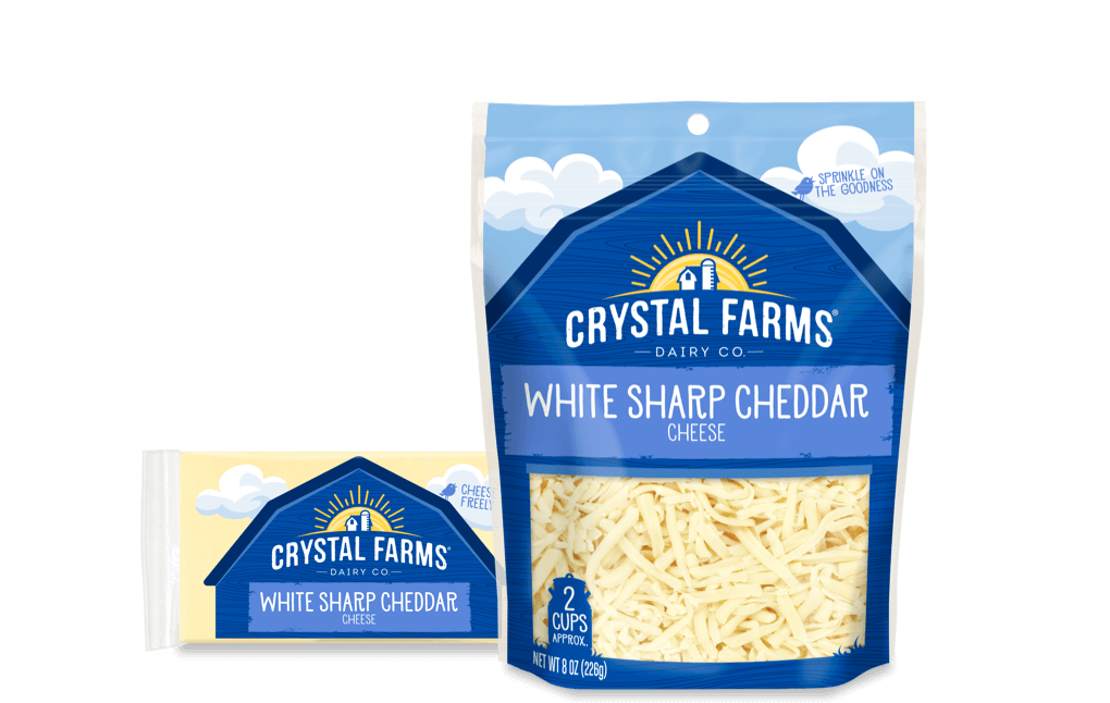 Cheddar_Crystal Farms Wisconsin Sharp White Cheddar Cheese