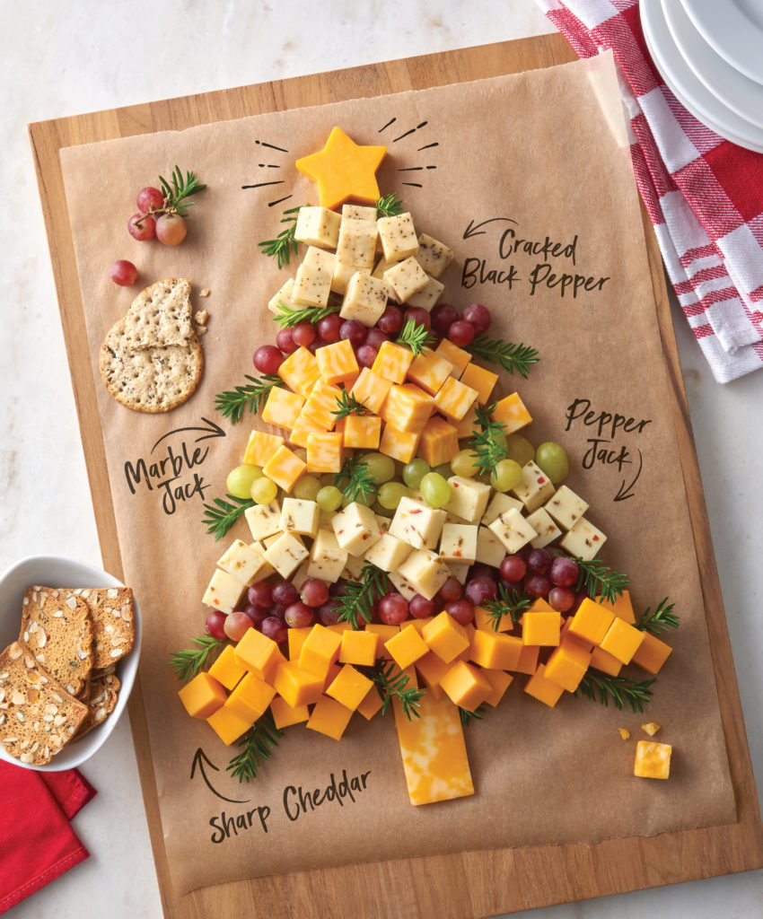 Cheese Cube Christmas Tree Un-Recipe From Crystal Farms