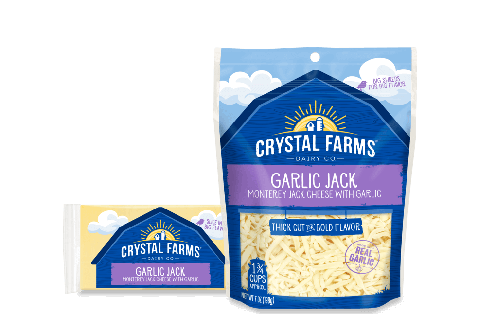 Jack_Crystal Farms Wisconsin Garlic Jack Cheese