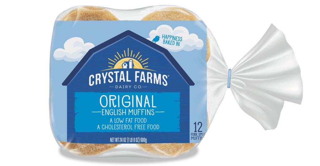 Dairy_Crystal Farms English Muffin Plain 12 Count