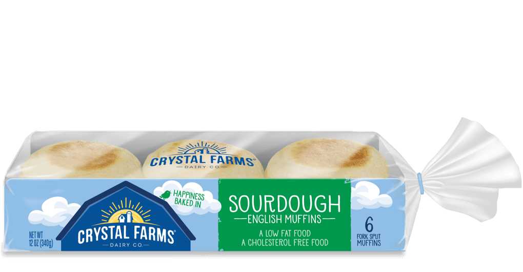 Dairy_Crystal Farms English Muffin Sourdough 6 Count