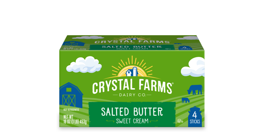 Dairy_Crystal Farms Salted Butter Quarters