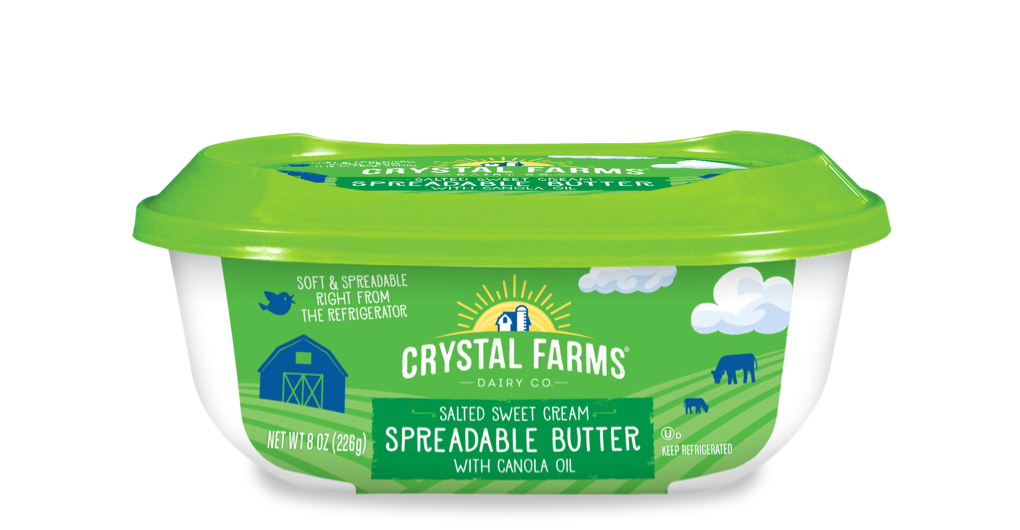 Dairy_Crystal Farms Spreadable Butter With Canola Oil