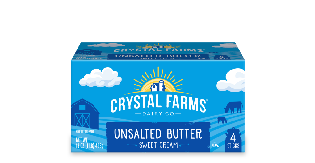 Dairy_Crystal Farms Unsalted Butter Quarter