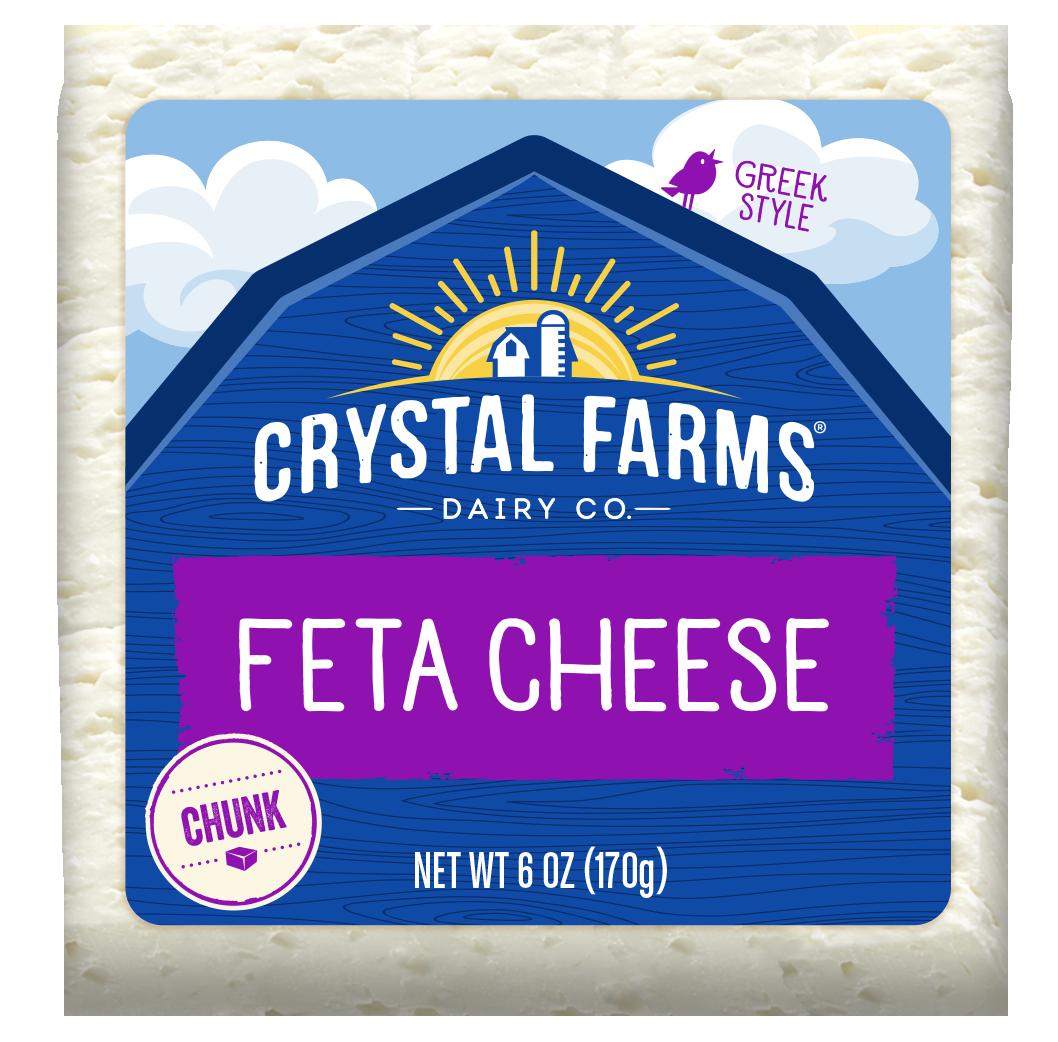 Feta Cheese Chunk From Crystal Farms